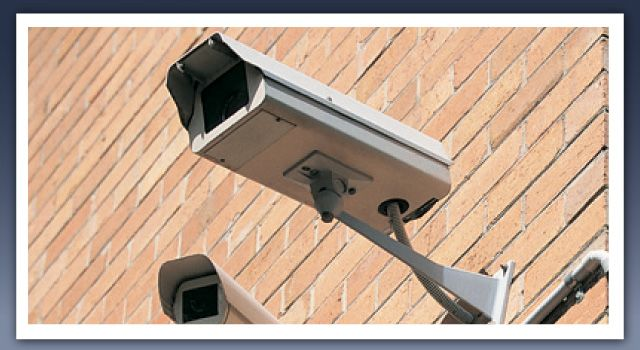 Mounted security cameras